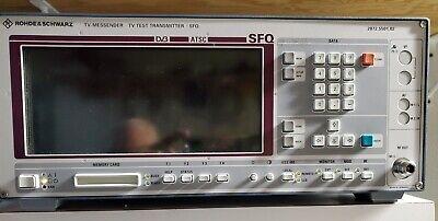 Rohde Schwarz Sfq Tv Atsc 8vsbtransmitter Modulator Exciter