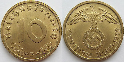 TOP! 10 Pf 1939 B in VORZÜGLICH / STEMPELGLANZ SELTEN !!!