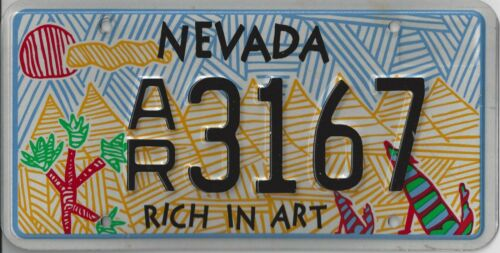 NEVADA LICENSE RICH IN ARTS