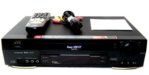 Pro-Serviced JVC HR-S5900U High Resolution Super VHS Hi-Fi ET VCR Jog Dial  EXC.