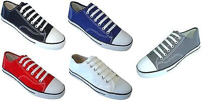 NEW Mens Canvas Sneakers Classic Lace Up Fashion Shoes  Colors, Sizes:7-12