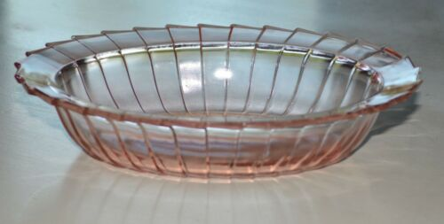 JEANNETTE SIERRA PINWHEEL OVAL VEGETABLE SERVING BOWL Depression Glass PINK