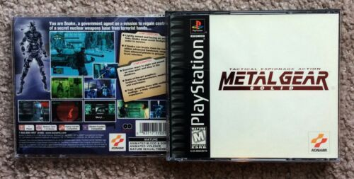 Please Read Only Empty Case for Metal Gear Solid (PlayStation 1, 1998) BL PS1