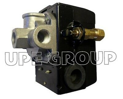New Air Compressor Pressure Switch 25 Amp 95-125 4 Port W Unloader