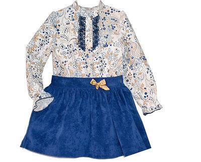 *SALE* Beautiful Girl's Blue Spanish 2 Piece Outfit/Romany/Nice Print/2-6 Years - Beautiful Girl Dresses Sale