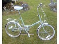 """Vintage Universal Unisport Folding Shopper Bike-20"""" wheels-16"""" frame-3 speed Shimano gears"""