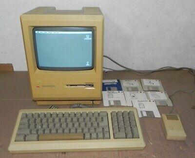 APPLE MACINTOSH PLUS 1MB WORKING VINTAGE MAC COMPUTER W/KEYBOARD & DISKS