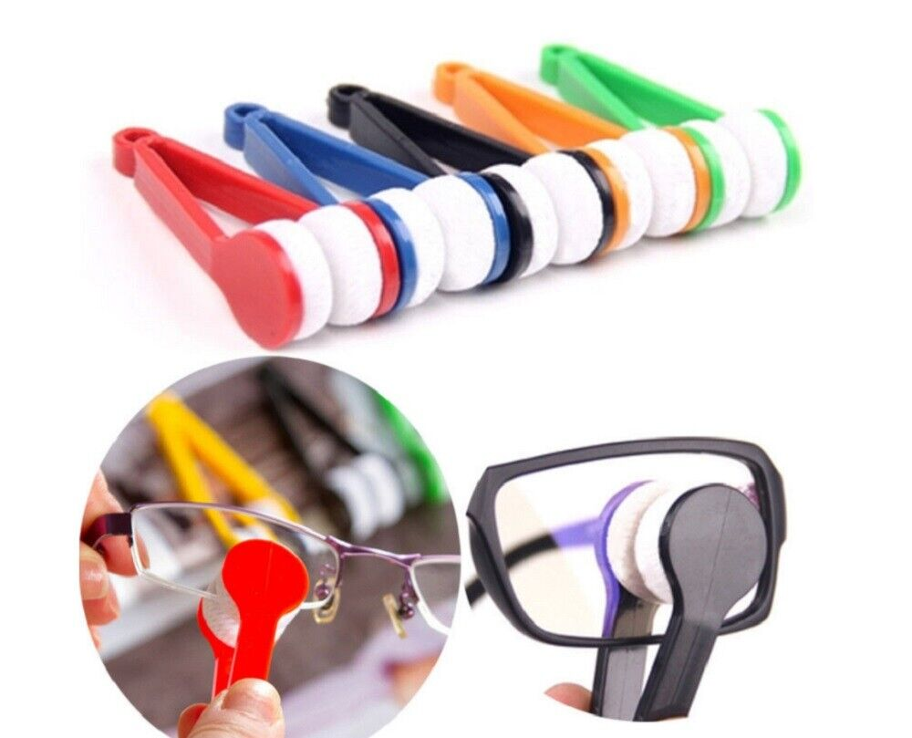 5 Pcs Sun Glasses Eyeglass Cleaner Microfiber Cloth Lens Wipes Cleaning Kit US Health & Beauty