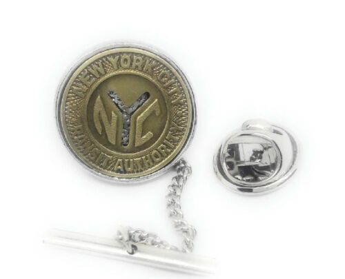 NEW YORK CITY SUBWAY TOKEN TIE TACK / LAPEL PIN
