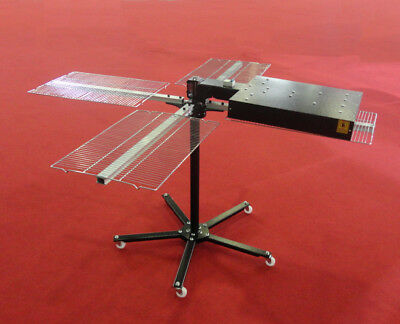 Screen Printing Flash Dryer With 4 Shirt Holder Rotary Dryer Increase Efficiency