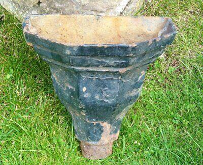 Antique vintage cast iron drain hopper ideal garden planter cottage garden