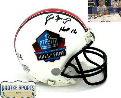 Brett Favre Autographed/Signed Riddell Pro Football HOF Mini Helmet - HOF 16 - Brett Favre Signed Pro Helmet