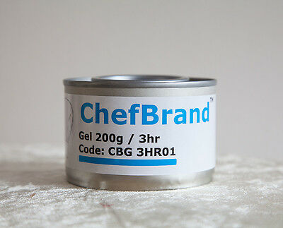 DISPOSABLE CHAFING DISH FUEL GEL CAN 3H BURN FOR FOOD PANS CATERING PARTIES