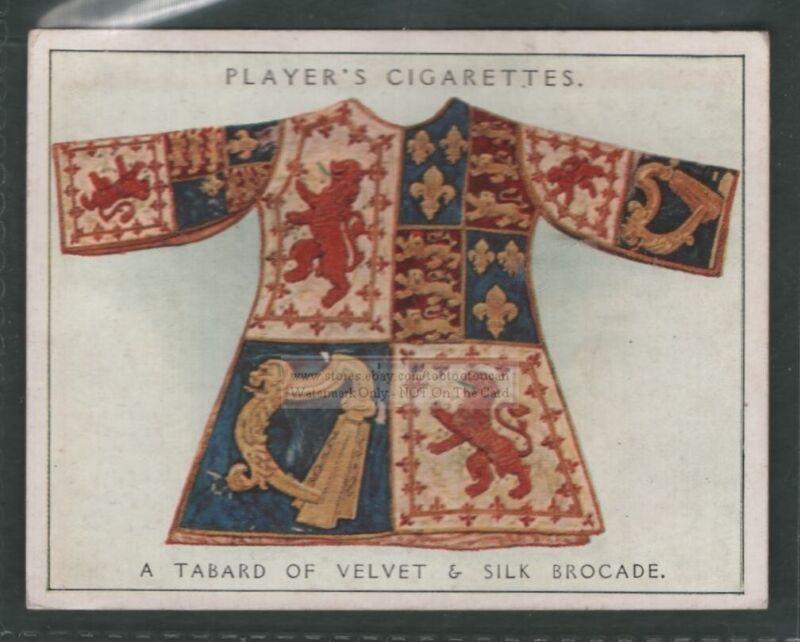 Heraldic Velvet And Silk Brocade Tabard Coat 1930s Ad Trade Card