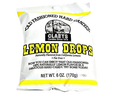Claey's LEMON DROP Old Fashioned Hard Candy (24)  6 OZ BAGS - FRESH & BEST PRICE