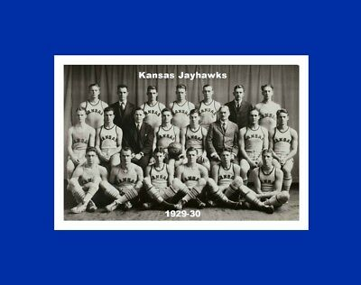 Kansas Jayhawks Mat - kANSAS JAYHAWKS matted 1929-30 basketball team photo