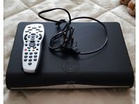 Sky HD Box, with remote and power cable, used.