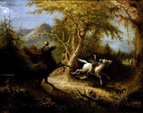 New 15x18 Print: Headless Horseman and Ichabod Crane, Legend of Sleepy Hollow
