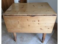 UNUSUAL Old Pine FARMHOUSE Style Table with a difference