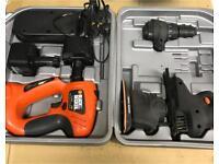 Black & Decker Multi Tool Set. Drill, Sander & Jigsaw