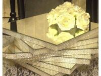 Can post Boxes of 12 x Wedding Table Centre Piece Mirror Plates avail in Silver Gold Purple Pearl