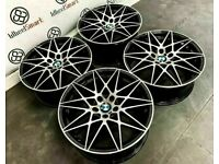 "BRAND NEW 19"" 20"" BMW COMPETITION PACK STYLE ALLOY WHEELS - 5 x120 -BLACK/DIAMOND CUT FINSIH"""