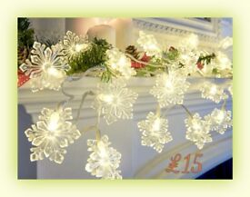 Snowflake Light-Up Garland