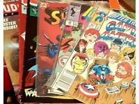 JOB LOT OF COMICS , action comics including MARVEL .