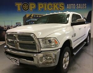 2014 Ram 3500 LONGHORN, DIESEL, NAVIGATION, 4X4, LEATHER!