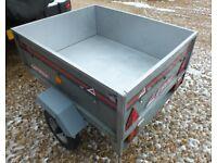 Erde galvanised box trailer