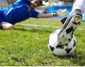 Football kick about wild park.