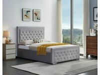 ✔️DESIGNER FURNITURE✔️DOUBLE SIZE PLUSH VELVET HEAVEN OTTOMAN STORAGE BED FRAME w OPT MATTRESS🎭