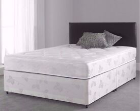 🔥FREE DELIVERY🔥 BRAND NEW Double or Kingsize Divan Bed W/ Dual-Sided 9& Semi Orthopaedic Mattress
