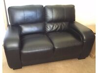 2 Seater black sofa (faux leather), needs to go ASAP
