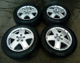 VOLKSWAGEN SHARAN ALLOYS WITH TYRES 215/55/16