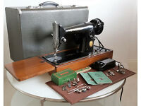 Singer 201K Semi-Industrial Heavy Duty Sewing Machine - SEWS LEATHER - Superb Condition
