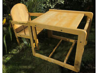 East Coast rubberwood toddler chair and table