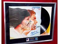 Carpenters autographed framed album