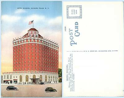 Hotel Niagara Falls New York Building Advertising Postcard Architecture Scarce