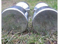 Pair of Weider solid dumbbells