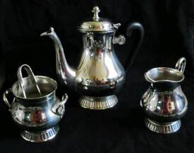 Silver plated tea set and tray