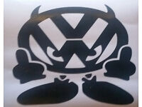 VW Devil -Funny Novelty Car/Van/Window/Bumper Vinyl Sticker/Decal - Price incl. UK postage