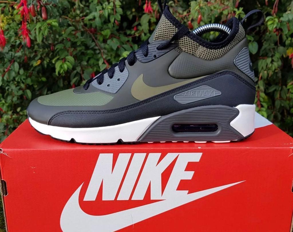 Nike Air Max 90 Ultra Mid Winter Olive Green Khaki Uk Size 9 Eur 44 ... 534866467