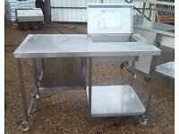 Stainless Steel Ice Storage .Catering Equipment,Work Bench 140X70cm Height:95
