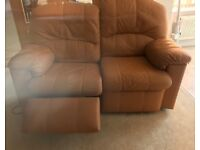 Leather Sofa Tan/Brown