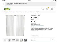 Curtains - 2 packs IKEA Vivan sheer white curtains. New- in packaging.
