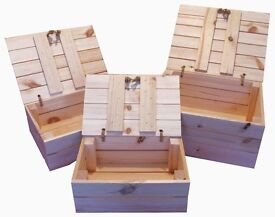 wooden handmade storage apple crate box with lid