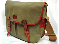 Mulberry Satchel Bag in Olive Green Scotchgrain Leather with Tan Leather Trim