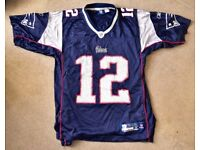 Official New England Patriots Vintage Style Jersey (M) - Tom Brady