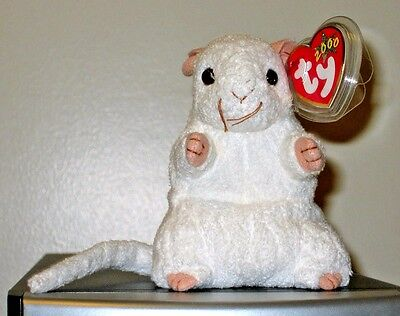 Ty Beanie Baby ~ CHEEZER the White Mouse ~ MINT with MINT TAGS ~ RETIRED